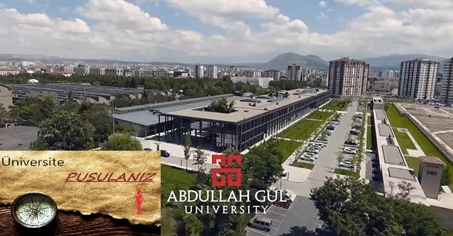Abdullah Gül Üniversitesi Taban Puanları ve Başarı Sıralaması