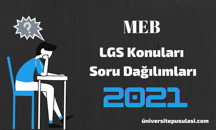 LGS Konuları ve Soru Dağılımları MEB