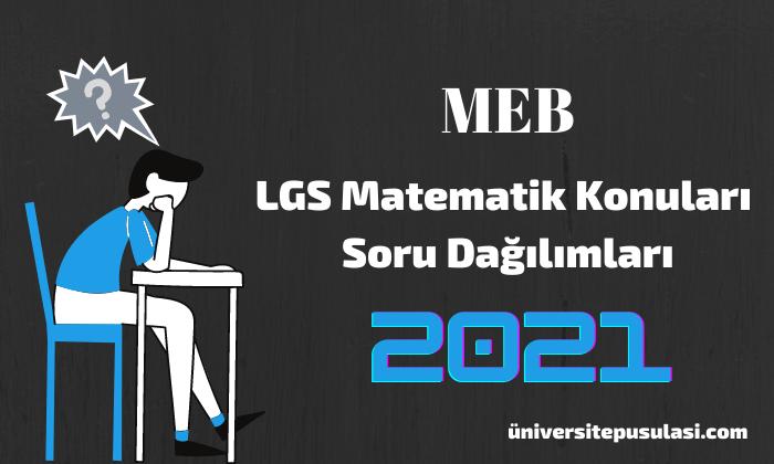 LGS Matematik Konuları ve Soru Dağılımları MEB