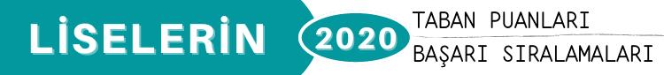 2020 Lise Taban Puanları Yüzdelik Dilimleri