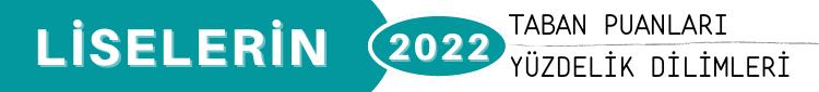 2022 Kayseri Liseleri Taban Puanları Yüzdelik Dilimleri